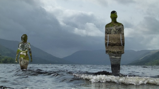 Sculptures by Rob Mulholland in Loch Earn near St Fillans. Image: Kim Bennett.